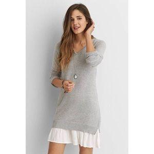 AEO Ruffle Hem Sweater Dress